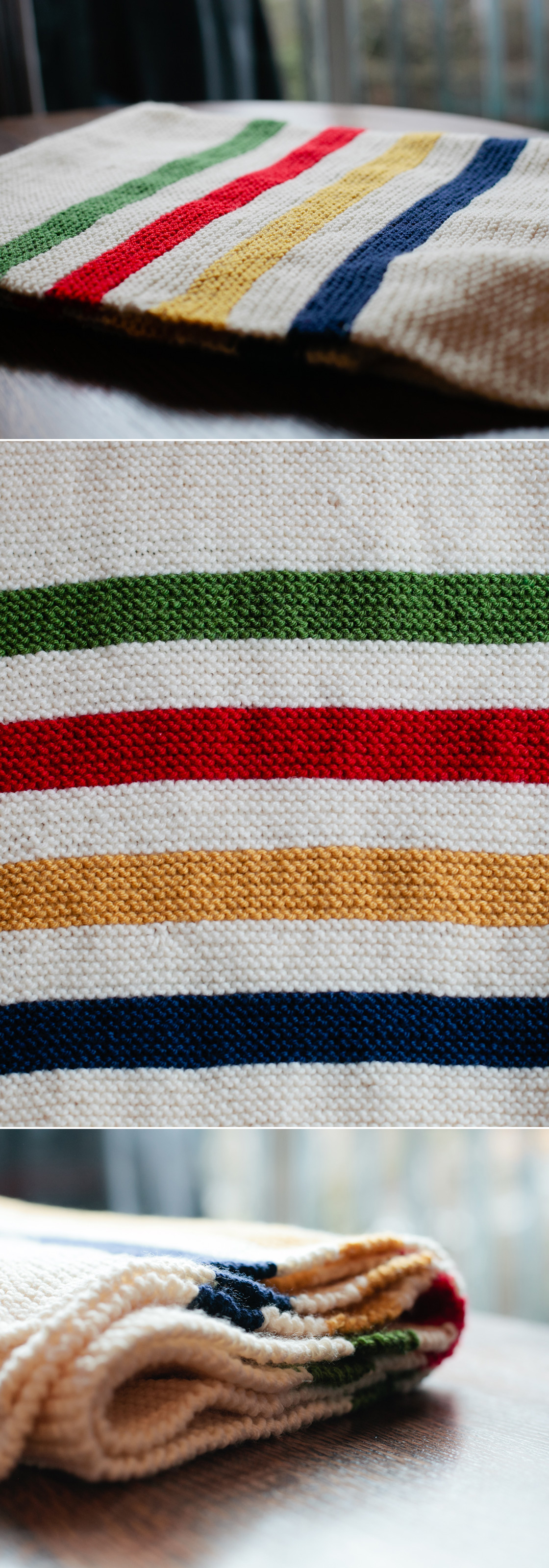 Knitting Pattern For Hudson Bay Blanket : DIY: Hand-knit Hudson s Bay Baby Blanket .liveit.loveit ...